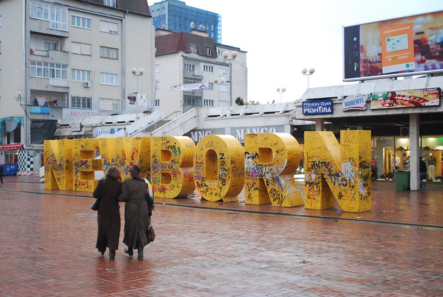 Newborn Monument Pristina by CC user 83015819@N00 on Flickr
