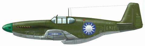 1945年國軍已經獲得美國援助先進的P-51戰機,性能足以壓制零式戰機