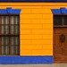Colorful historic buildings in port of Callao, Peru