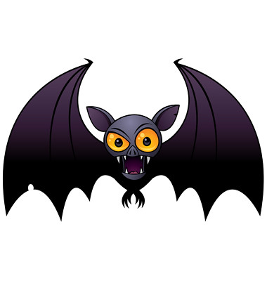 Halloween Vampire Bat | Vector cartoon illustration of a ...