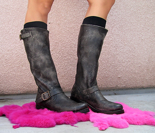 Black Slouch Boots Shoe Zone