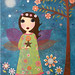 Fairy Collage Painting Art By Sascalia