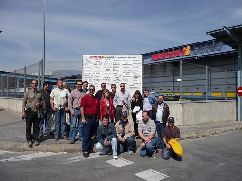 Visita Iberia Cargo. Más foto de familia