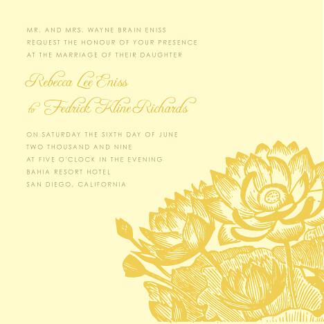 Lotus Flower Wedding Invitations Wedding Invitation With