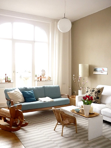 vintage modern apartment in germany blogged today on