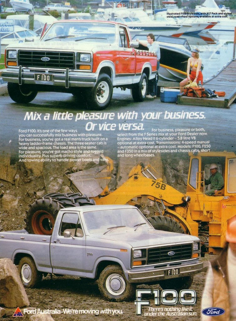 New Ford Truck >> 1982 Ford F-100 XLT Truck Ad | The ever popular Ford F-100 ...