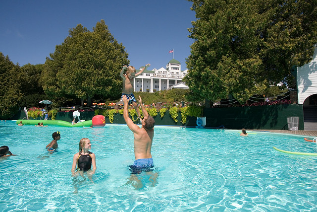 by Esther Williams Pool; C'mon in, the pool is heated!   by