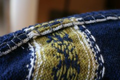 Facings tacked down with blanket stitch | by ElinorB