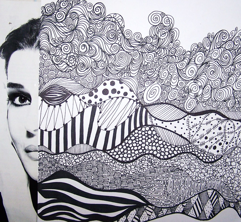 Line Drawing Your Photo : Abstract faces landscape ish karol ann flickr