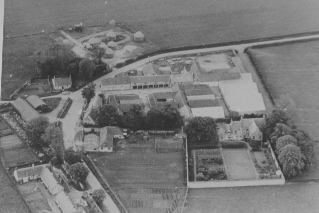 House By Owner >> Aerial view of Peaston Farm in Humbie | This black and white… | Flickr