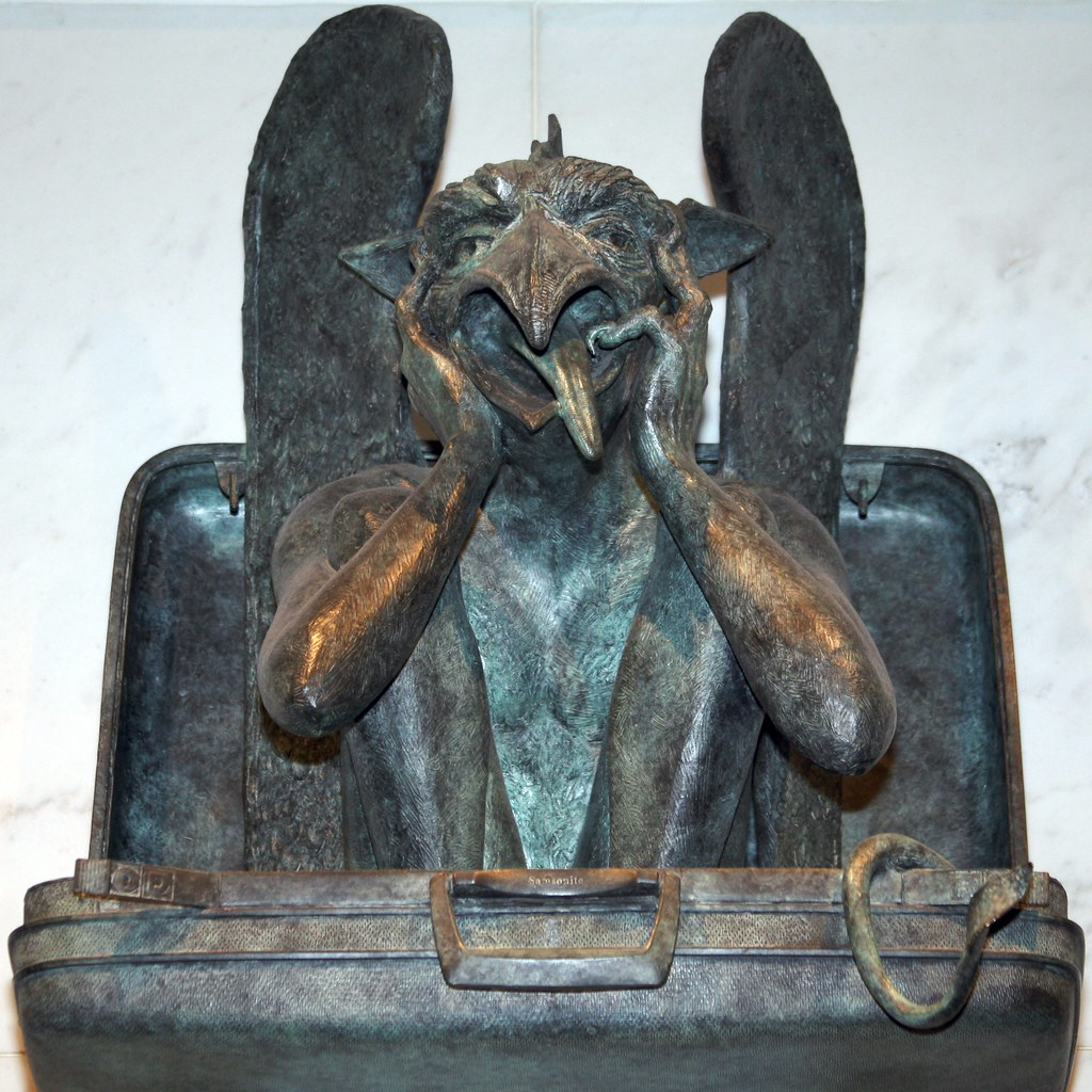 """This Gargoyle """"greets"""" Weary"""