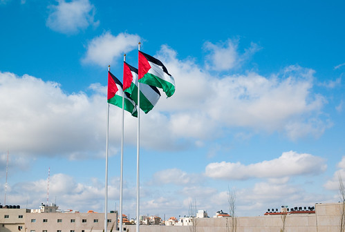 Palestinian flags at Yasser Arafat's tomb | by Joi