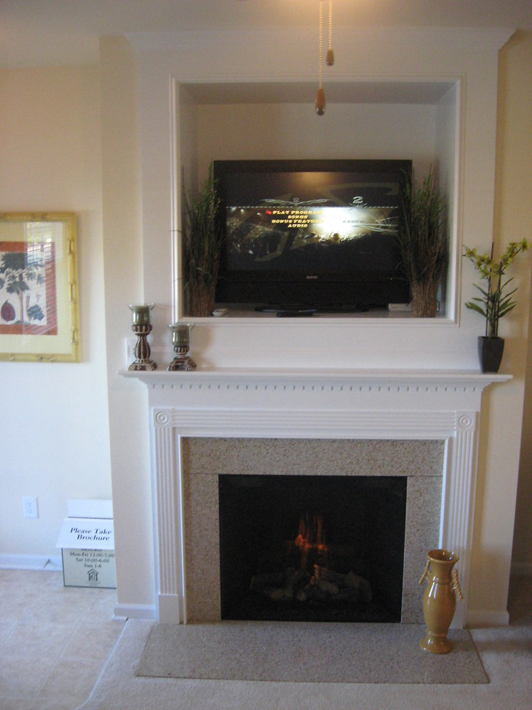 Calloway glen built in fireplace and tv niche calloway Calloway homes