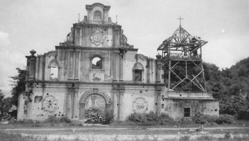 WAR TORN San Fernando City, La Union Church, St. William Parish, PHILIPPINES 1945 | by J. Tewell