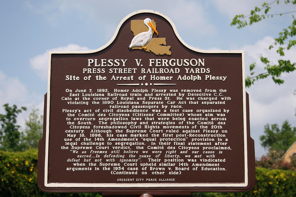 plessy vs ferguson Plessy v ferguson is a landmark case in which the supreme court of the united states ruled that separate, but equal facilities were constitutional this case was decided in 1896 and was.
