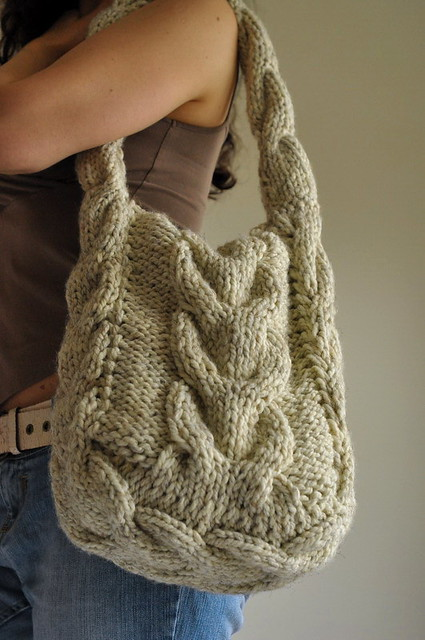 Soul Of A Vagabond Classic Cable Knitted Shoulder Bag