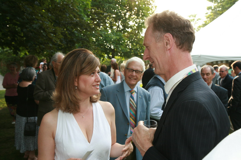 High Commissioner Cary Chatting With Rita Celli From Cbc R