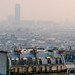 Tour Montparnasse partially concealed in fog...