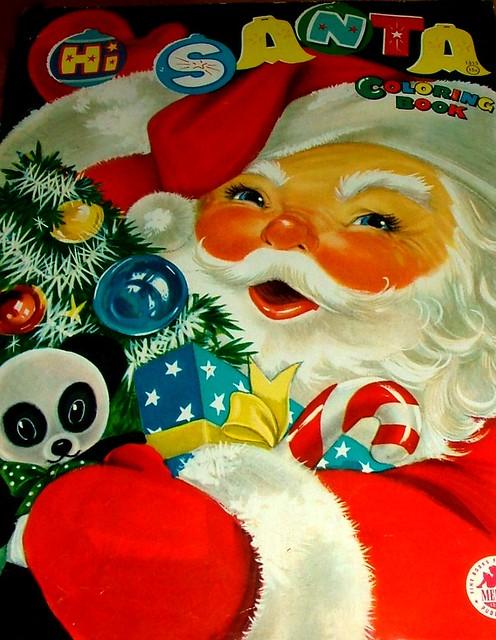 hi santa vintage christmas coloring book by cwalsh415