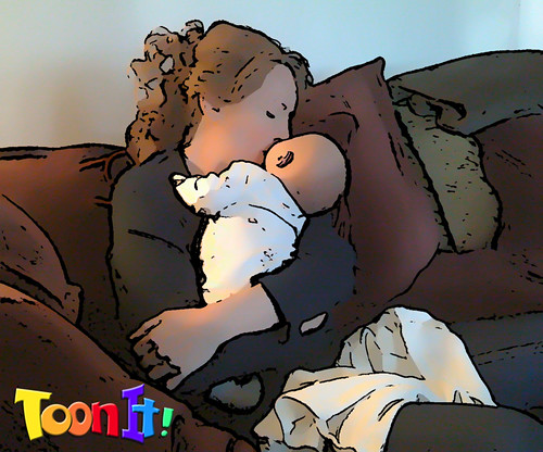 Mom & Baby Kiss: ToonIt! Cartoon Effects | by digitalanarchy