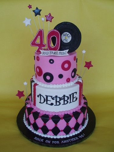 40th rock 39 n roll cake flickr photo sharing for 40th bday decoration ideas