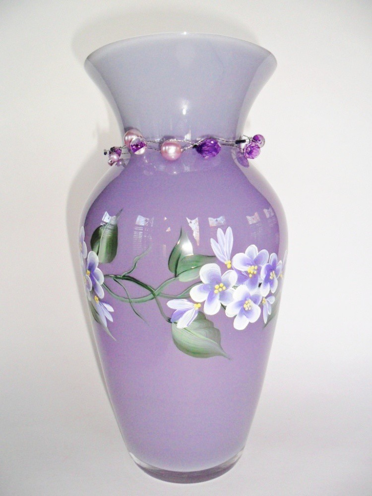Vase Hand Painted Flower Vase Lilac Purple Beautiful Lilac Flickr