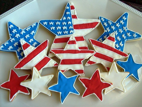 Stars and Stripes Forever - Star Decorated Cookies - Patriotic Cookies | by Lori's Place Gourmet Delights