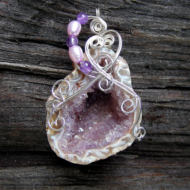 Wire Wrapped Stone Pendant