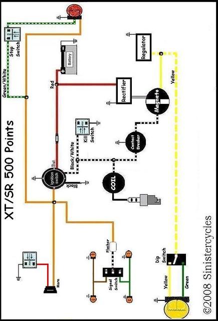 yamaha sr xt tt simple wiring diagrams flickr rh flickr com 1977 Yamaha XT500 1980 Yamaha XT500 Supermoto
