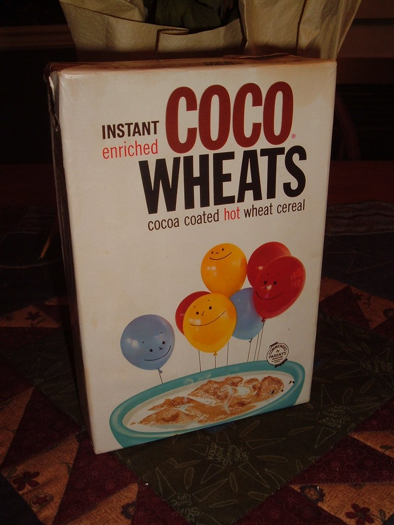 Vintage 1962 Coco Wheats Cereal Box Very Cool Hard To