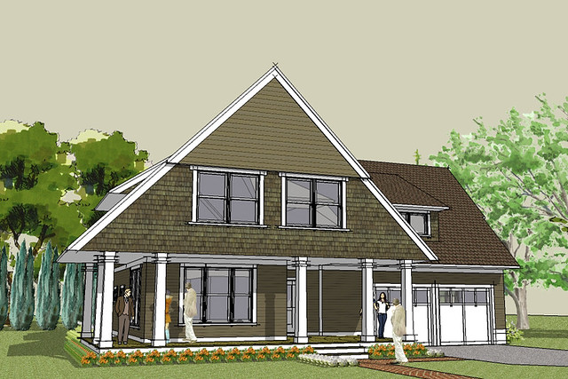 Afton bungalow house plan exterior rendering house for Simply elegant home designs