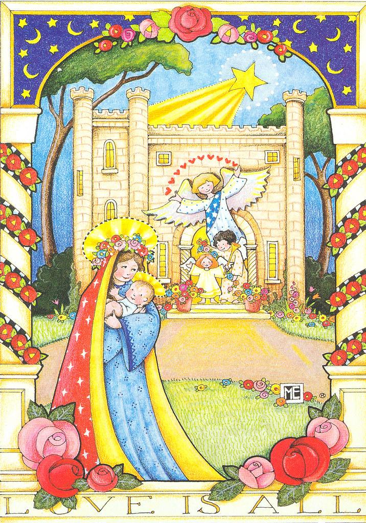 mary engelbreit madonna and child christmas card