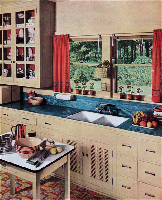 1936 kitchen with linoleum counter this particular image for 1930s style kitchen design