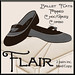 Flair-Ballet Flats-Pinned-Choc Grey Combo