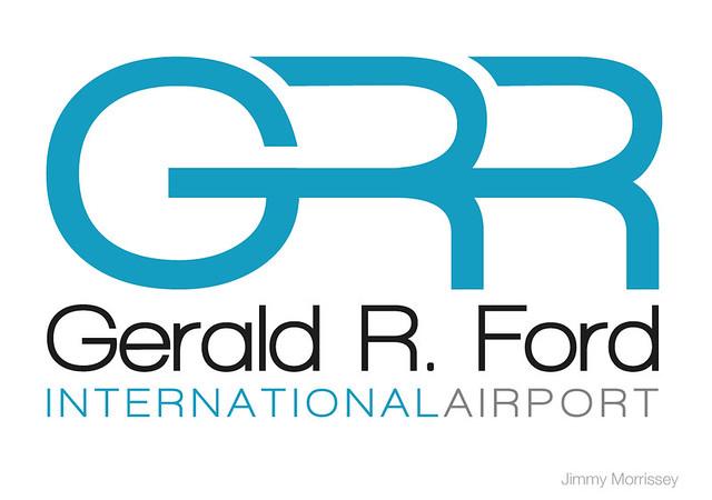 Gerald R Ford International Airport Logo Jimmymorrissey