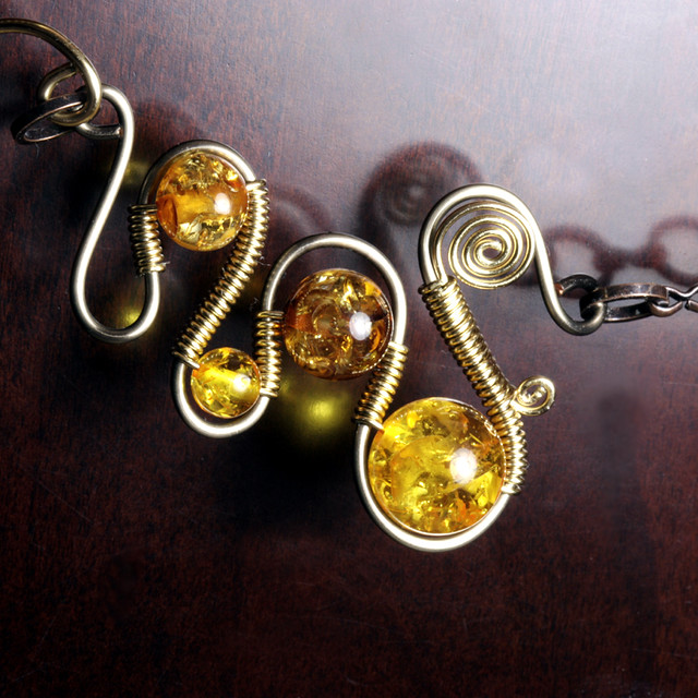 Wire Ring Beads: Steampunk Jewelry Made By CatherinetteRings- Wire Wrapped