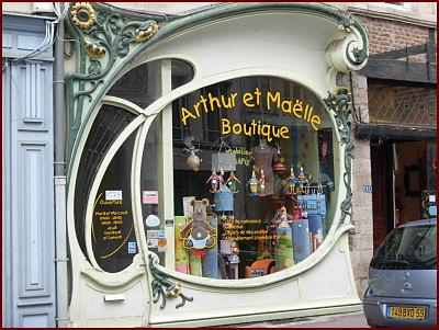 Art nouveau shop window douai france an art nouveau for Art deco online shop