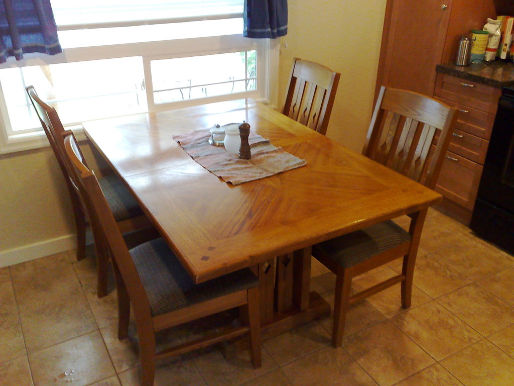 New to us kitchen table got a second hand dining set fro flickr - Second hand dining tables ...