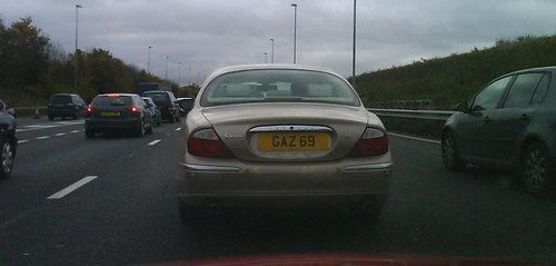 Gary number plate on Jaguar S-type | by The Plate Market