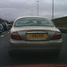 Gary number plate on Jaguar S-type
