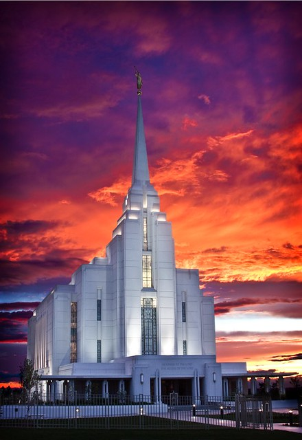 Rexburg Idaho Temple Rexburg Idaho Temple Sunset