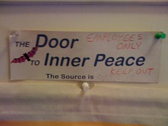 The Door to Inner Peace: EMPLOYEES ONLY! | by passiveaggressivenotes