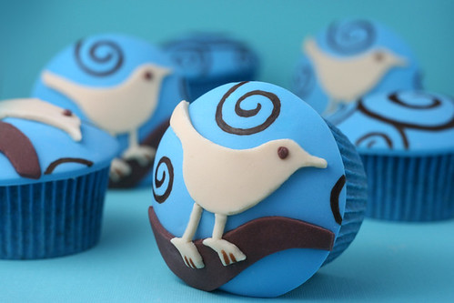 Twitter Cupcakes | by Bakerella