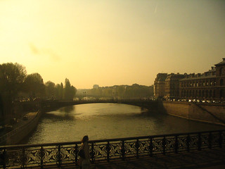 River Seine, city Paris in the morning | by dora_c