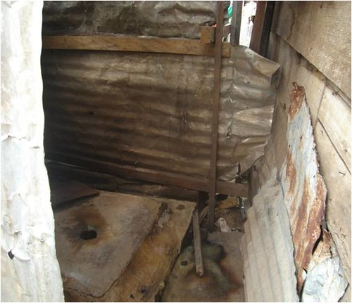 Inside a pit latrine in briqueterie l int rieur d une la for Inside a l interieur