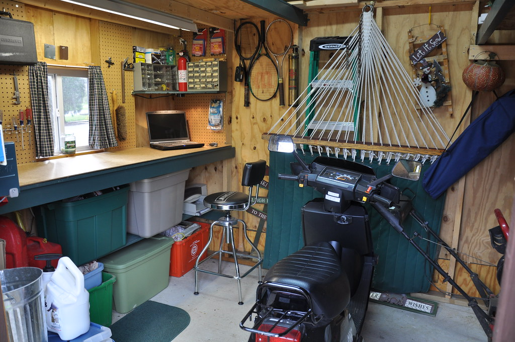 Man Cave Ideas In Garden : Man cave er ah garden shed brevort flickr