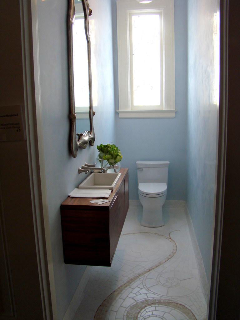 DSC05739 SF Decorator Showcase light blue powder room | Flickr
