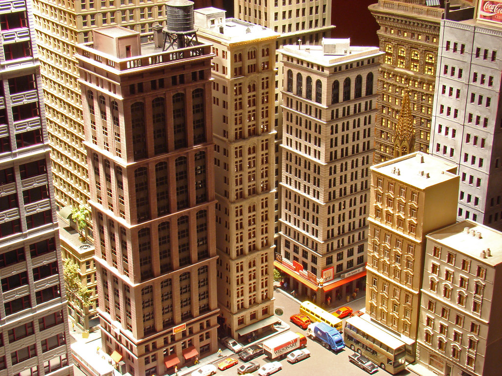 N Scale City Skyscrapers Gas And Electric Building Flat
