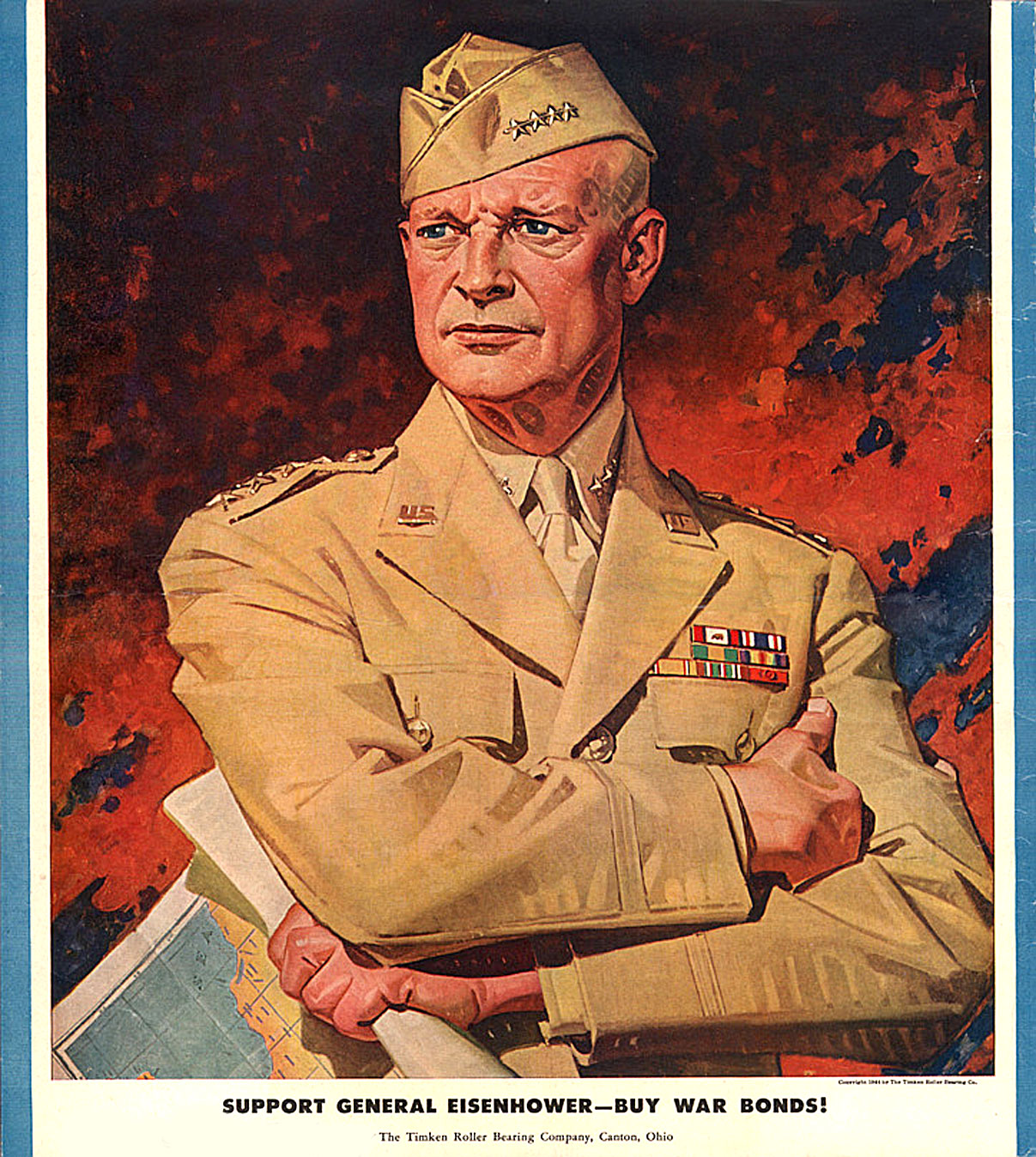 The Timken Roller Bearing Company - 'Buy War Bonds' featuring General Dwight D. Eisenhower - 1944