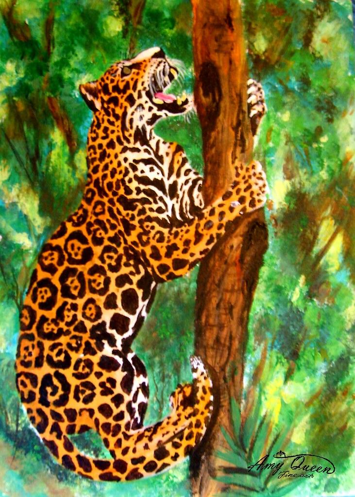 Jaguar Climbing Climbing Jaguar Jaguar Art